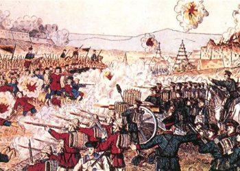 八國聯軍對峙。(公共領域)