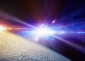 高能宇宙射線藝術假想圖。