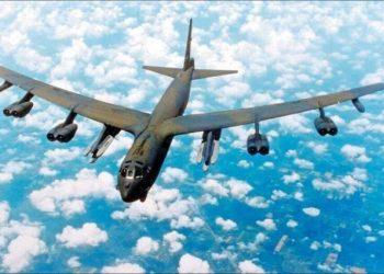 美軍B-52H轟炸機重返關島。(資料照,歐新社)