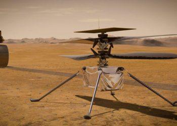 美國宇航局(NASA)4月6日宣布,「創新號」(Ingenuity)迷你直升機,成功在火星上度過-90℃的第一夜。(NASA)