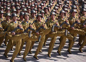 2018年9月9日,朝鮮在平壤金日成廣場舉行閱兵儀式。AFP